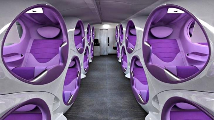Air lair sar questo il futuro dei sedili sugli aerei in for Emirati franchigia bagaglio in cabina in classe economica