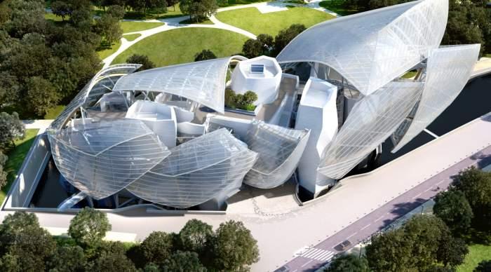 Apre l'iceberg della Fondazione Louis Vuitton a Parigi, con museo e auditorium