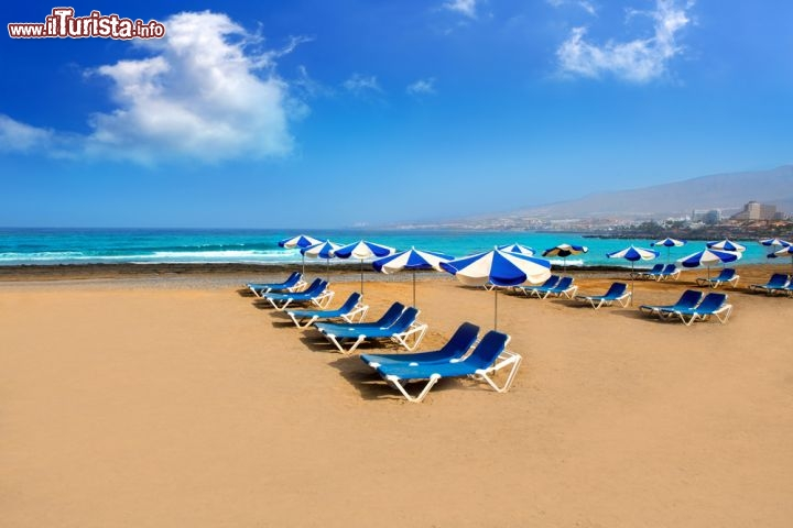 Costa adeje la spiaggia di arona a tenerife foto - Immagini da colorare la spiaggia ...