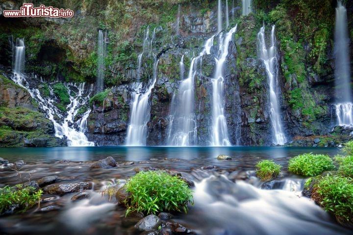Immagine le cascate del fiume langevin nell'isola de la réunion