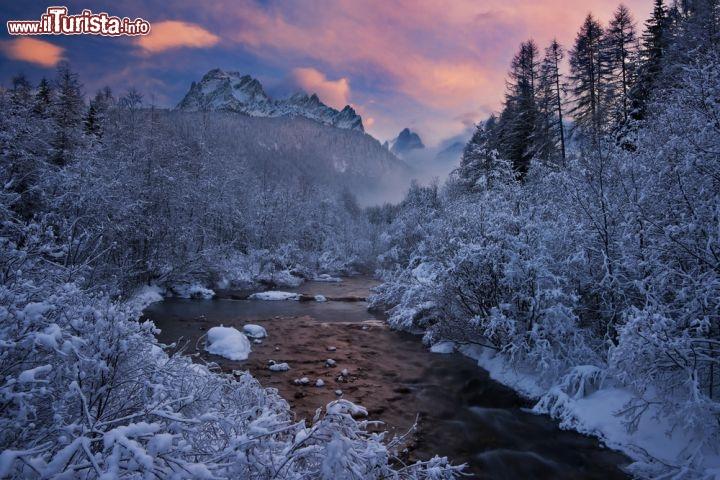 Paesaggio invernale a sesto sexten ci troviamo foto - Immagini da colorare delle montagne ...