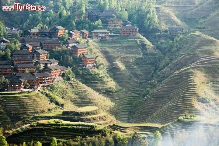 Terrazzamenti per la coltivazione del riso a ... | Foto Guilin