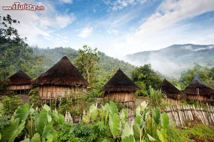 Immagine Un villaggio della Nuova Guinea occidentale, terriotrio appartenente all'Indonesia - © Tyler Olson / Shutterstock.com