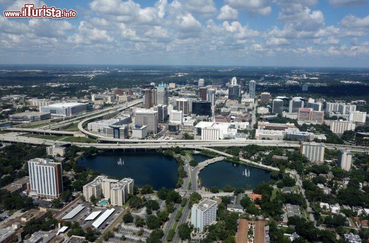 Fotografia Aerea Del Centro Di Orlando Florida Foto