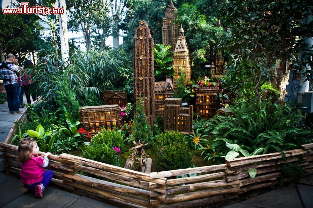 Holiday train show a new york city presso il new Botanical garden train show