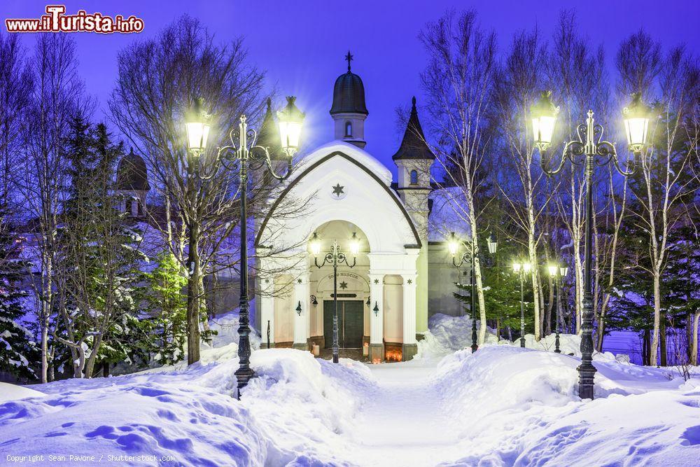 Il Museo Dei Fiocchi Di Neve A Asahikawa A Mezzanotte Foto