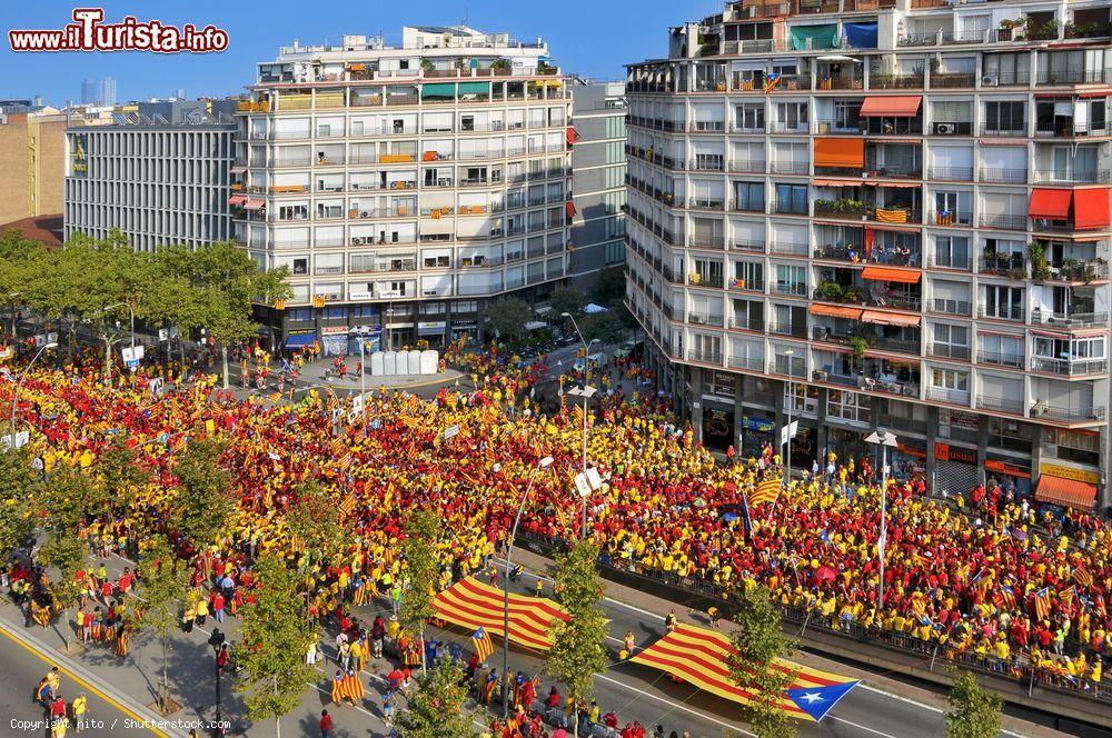 A Barcellona i separatisti in marcia per il