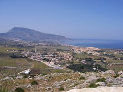 Il Panorama di Custonaci e la costa nord-occidentale della Sicilia