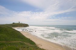 Mavericks Surf Break la spiaggia nei pressi di Half Moon Bay in  California