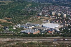 Weil am Rhein, vista aerea della Vitra Design area in Germania