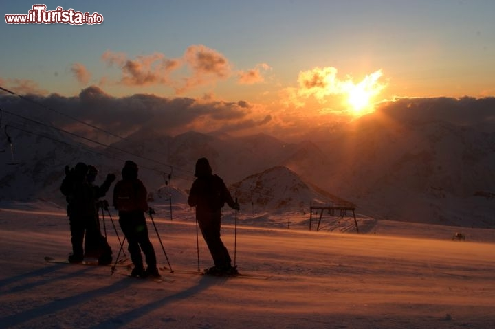 Immagine Tramonto sulle piste delle Deux Alpes in Francia - © cathy ribier - www.les2alpes.com