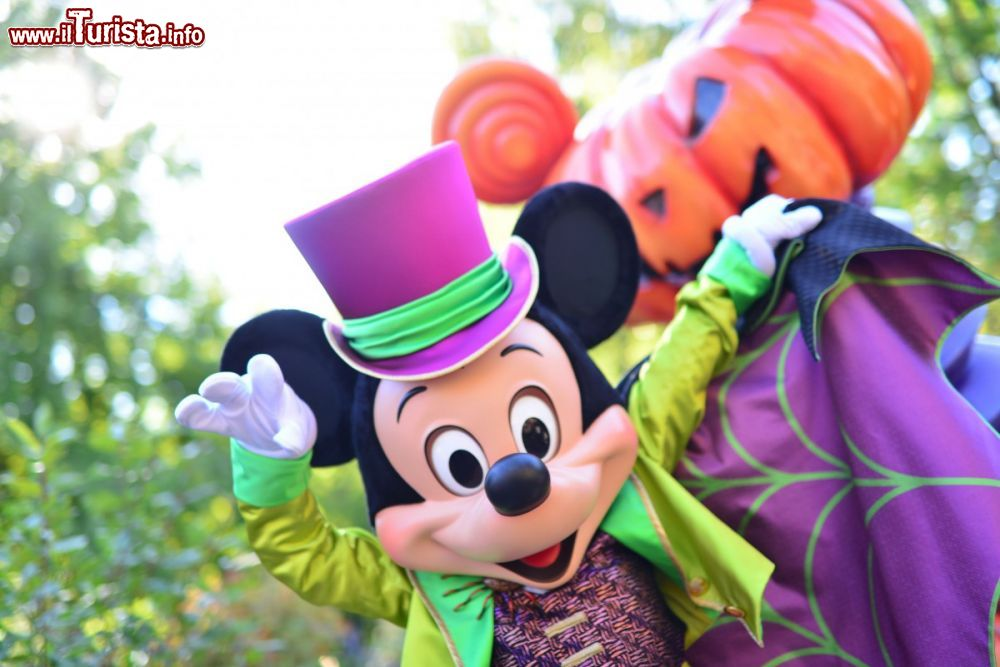 Immagine Topolino e zucca di Halloween a Disneyland Paris - © news.disneylandparis.com