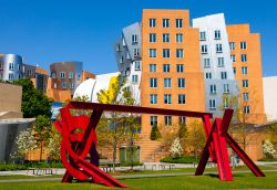 Il Ray and Maria Stata Center è un centro studi del M.I.T. (Massachusetts Institute of Technology) di Cambridge, Boston, progettato da Frank Gehry e completato nel 2004. Nella foto una ...