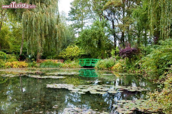 Lo stagno e il ponte giapponese nei giardini foto for Stagno giardino