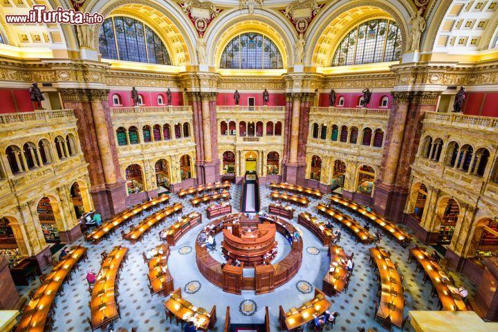 Libreria Del Congresso Usa Al Campidoglio Di Foto
