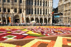 La Grand place a ferragosto con il flower carpet ammirato dai ...