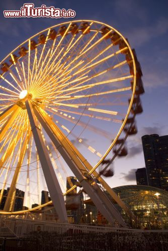 Immagine La Ferris Wheel di Navy Pier a Chicago