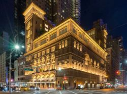 La celebre sala da concerto di Carnegie Hall a New York City, ...