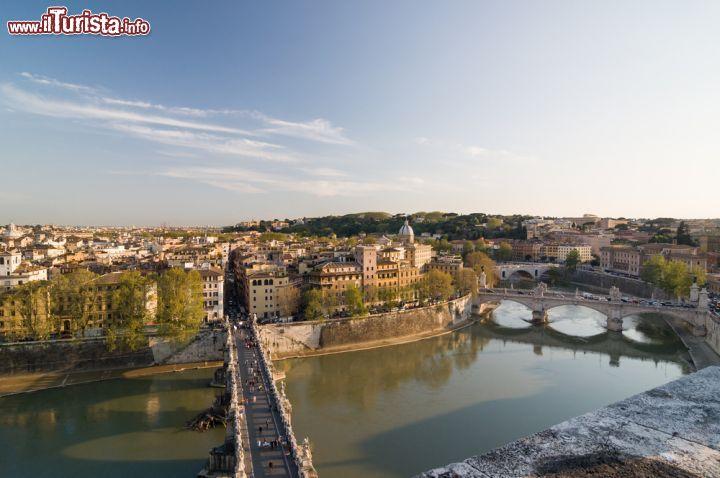 Panorama di Roma dalla terrazza di Castel Sant ... | Foto Roma ...