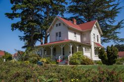 Una storica casa all'interno del parco del Presidio a San Francisco