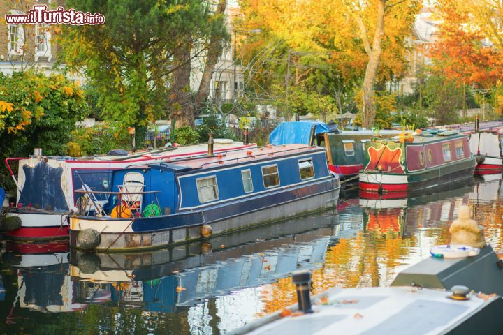 Immagine Le barche colorate di Little Venice, Londra ovest, Paddington