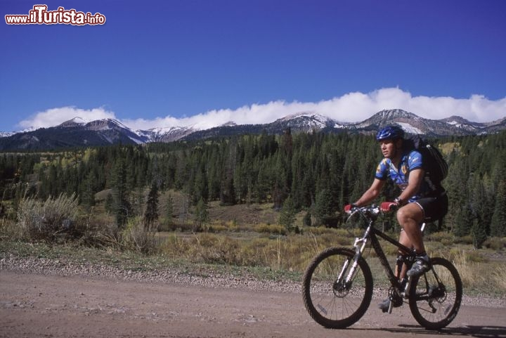 Wyoming: escursione in mountain bike. Credit: Tom Moran