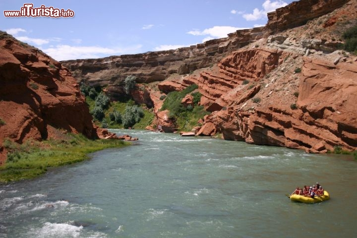 Rafting sul fiume Shoshone River del Wyoming. Credit: Wyoming Travel & Tourism