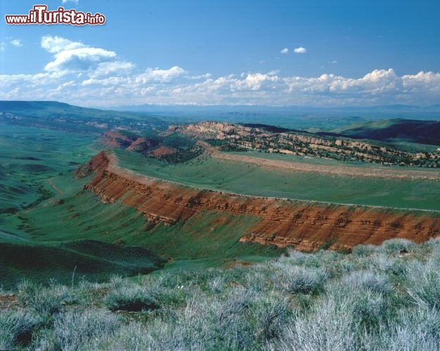 Il Red Canyon del Wyoming visto dal Scenic Overlook. Credit: Egret Communications