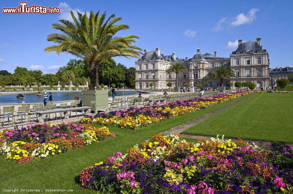 Aiuole fiorite ai jardin du luxembourg in centro for Aiuole fiorite immagini