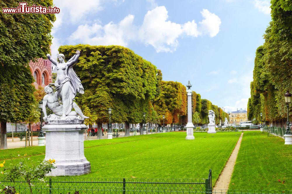 Alcune statue allinterno dei giardini del foto parigi