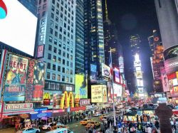 Times Square, New York City by night
