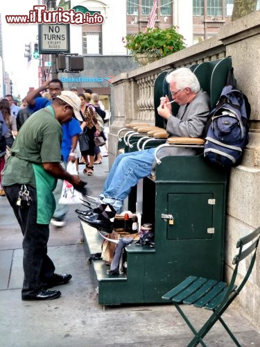 Shoeshine a New York