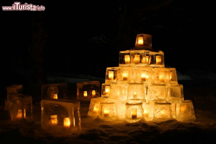The thousand ice lanterns festival | Lapland Vuollerim