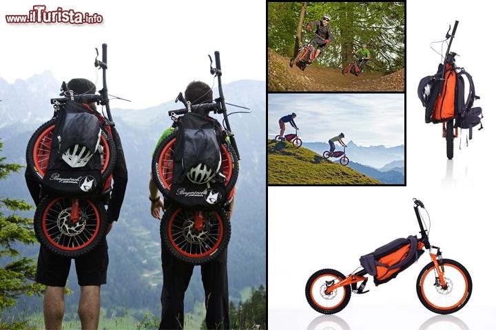 Zaino Trekking Con Pannello Solare : Bicicletta a zaino by bergmoench per chi ama fare