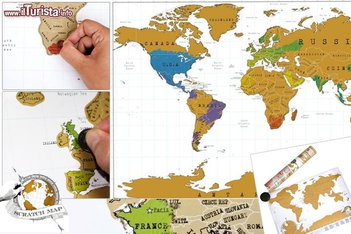 Cartina Mondo Che Si Gratta.Gratta Dove Sei Stato Scratch Map Travel Ovvero La Mappa Poster Guarda Tutte Le Foto