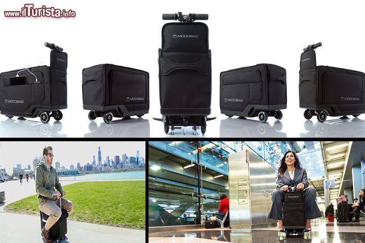 Modobag la valigia trolley che diventa uno scooter for Emirati limite di peso del bagaglio a mano