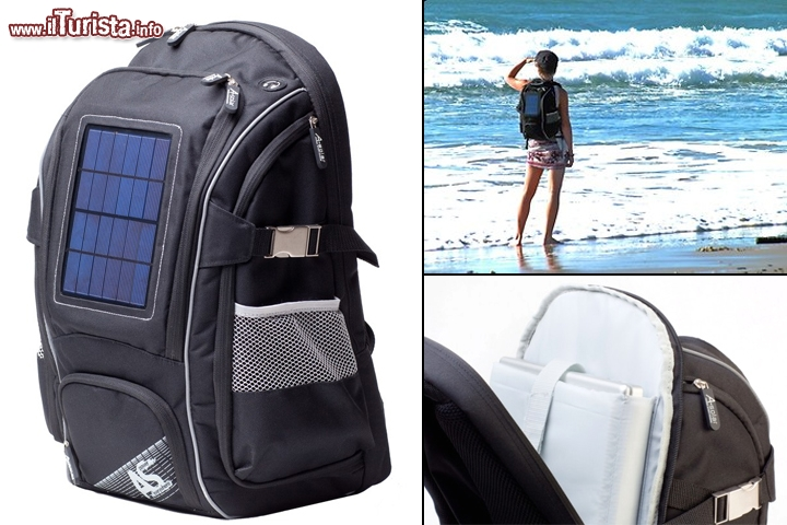 Pannello Solare Per Vw California : Zaino con pannello solare nova backpack by a solar gli