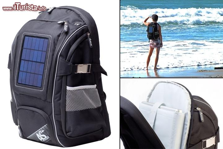 Pannello Solare Con Bottiglie Di Plastica : Zaino con pannello solare nova backpack by a solar gli