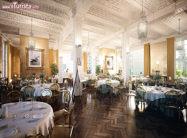 Sala da pranzo in stile titanic hotel 30 james street - Foto sala da pranzo ...