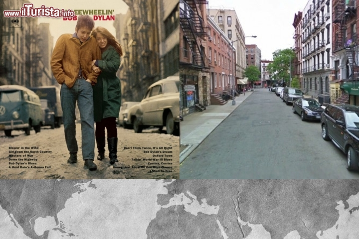 The Freewheelin' Bob Dylan: il luogo sulla copertina è all'incrocio tra Jones Street e West 4th Street nel West Village a New York City