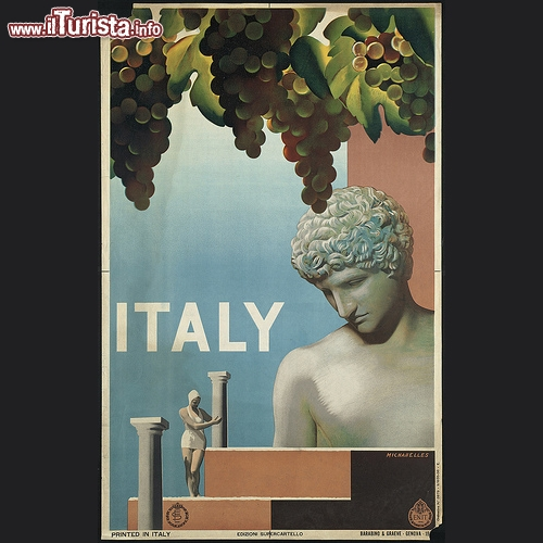 E.N.I.T. (Ente Nazionale Industrie Turistiche e Ferrovie dello Stato Italiano) primi anni 30 - Copyright © The Boston Public Library's Print Department