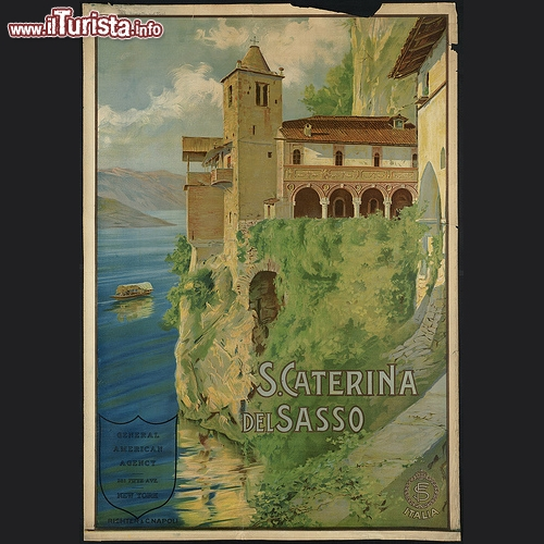 L'Eremo di S. Caterina del Sasso in manifesto promozionale per il mercato americano - Copyright � The Boston Public Library's Print Department
