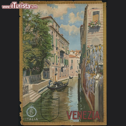 Venezia in un poster vintage del 1920 stampato dalle Officine G. Ricordi & C. - Copyright � The Boston Public Library's Print Department