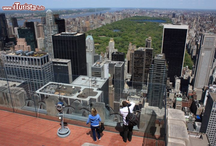 Immagine Top of the rock, il punto panoramico sul Rockefeller Center: vista su Central Park