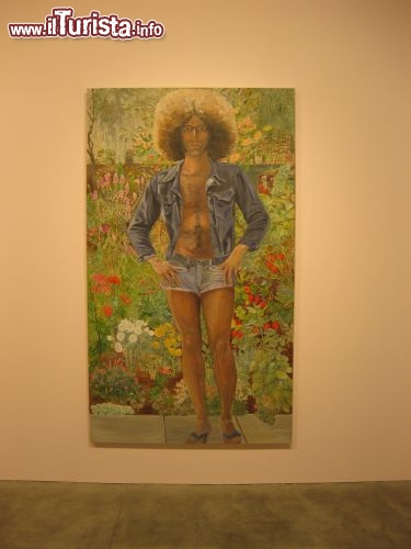 Immagine Sylvia Sleigh Annunciation: Paul Rosano, 1975 quadro esposto a Bordeaux museo d'arte contemporanea
