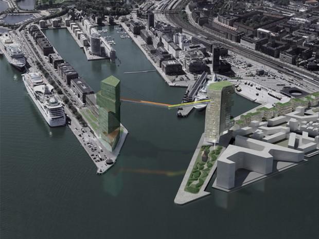 Copenaghen Gate: il ponte ciclabile sopraelevato sul porto