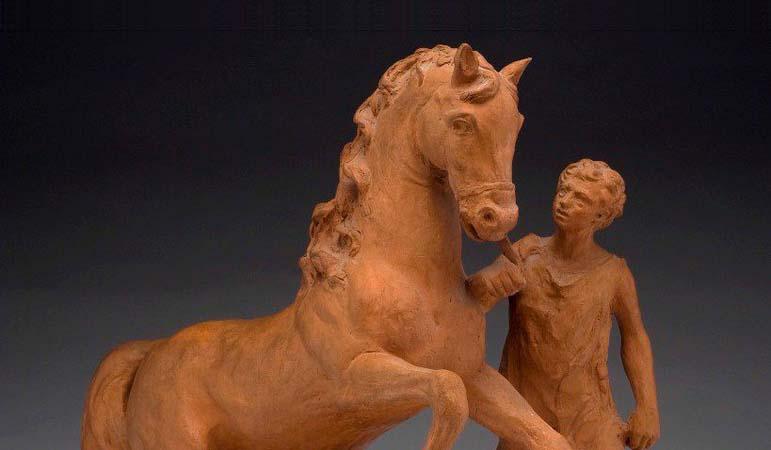 Giorgio De Chirico - La scultura Arezzo