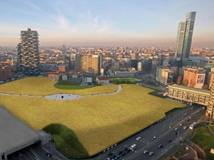 Wheatfield, inaugurato il campo di grano in centro Milano