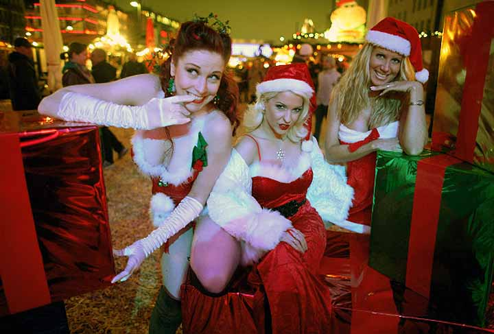 Il mercatino Sexy di Natale St. Pauli Amburgo
