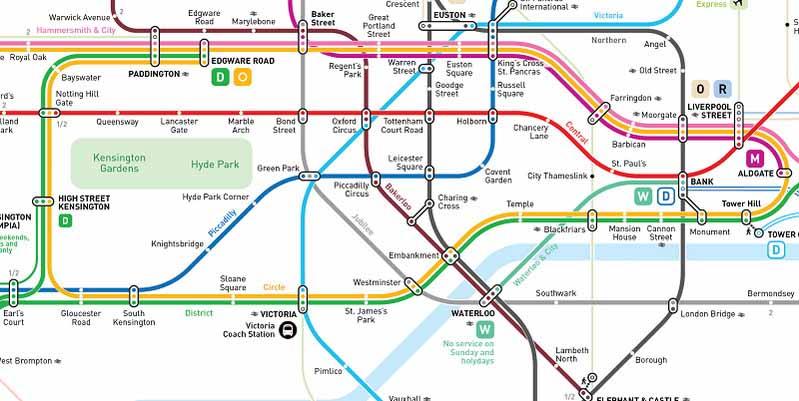 Cartina Metro Londra Con Monumenti.Una Nuova Mappa Della Metropolitana Di Londra Meglio Di Quella Ufficiale
